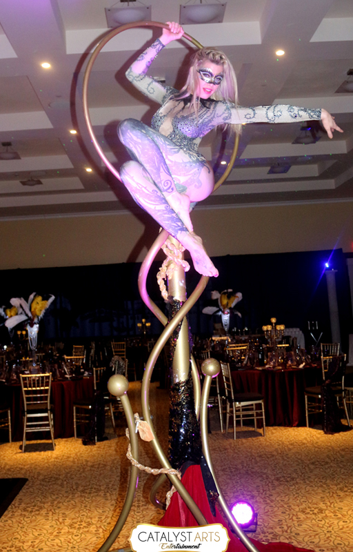 Aerialist Performer at Masquerade Ball by Catalyst Arts