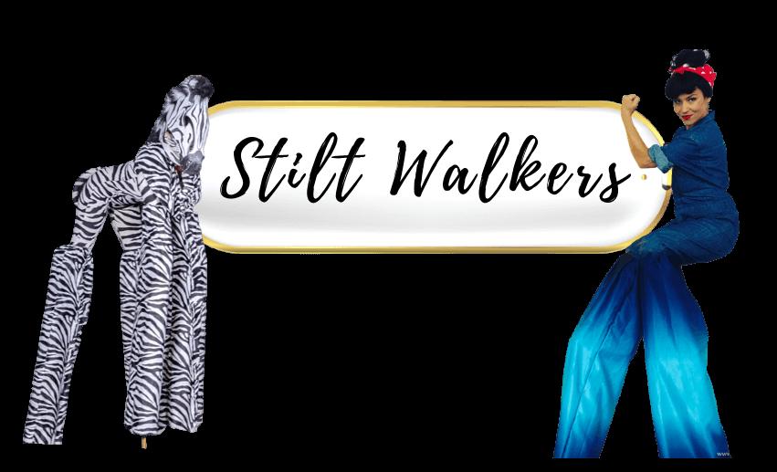 book a stilt walker