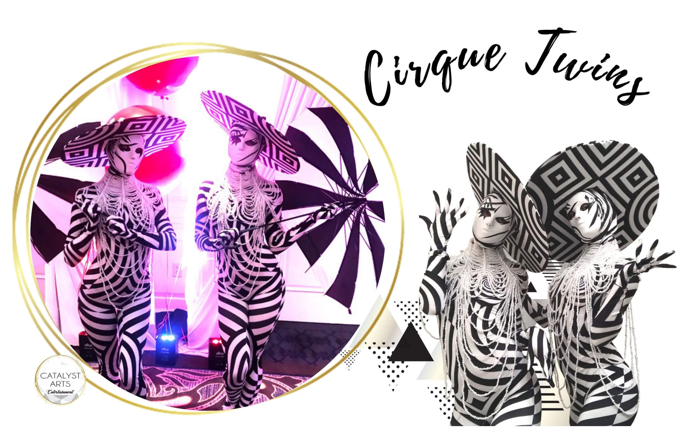 Mesmerizing Cirque Twins- bubble costumed performers by Catalyst Arts California