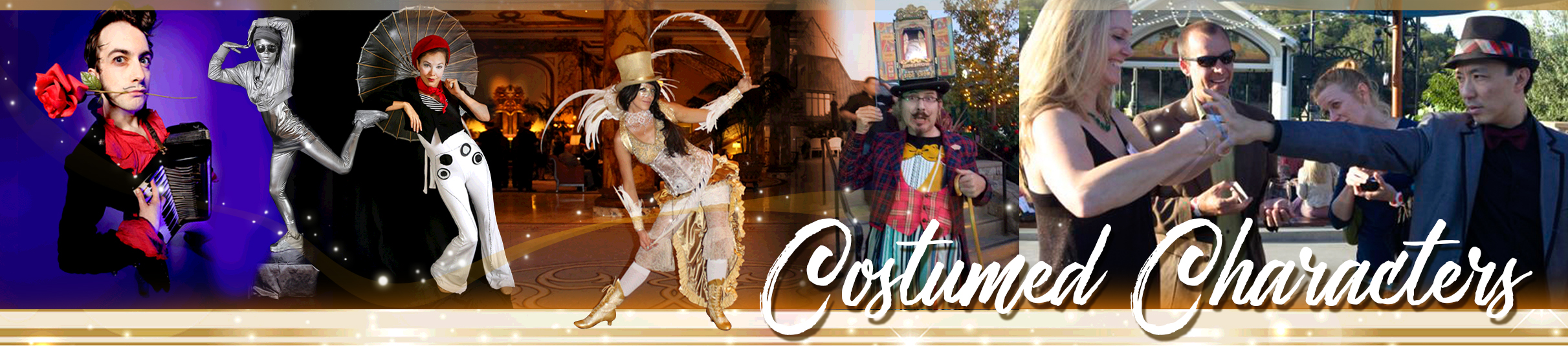 Costumed Characters & Walkabout talent by Catalyst Arts in California