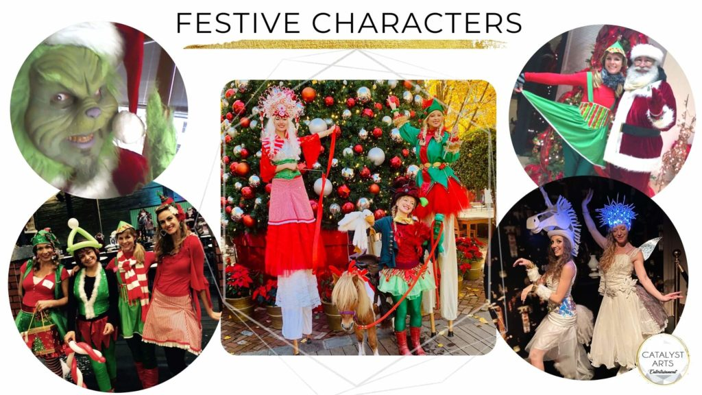 Festive Holiday Party Performers from Catalyst Arts Entertainment in Bay Area