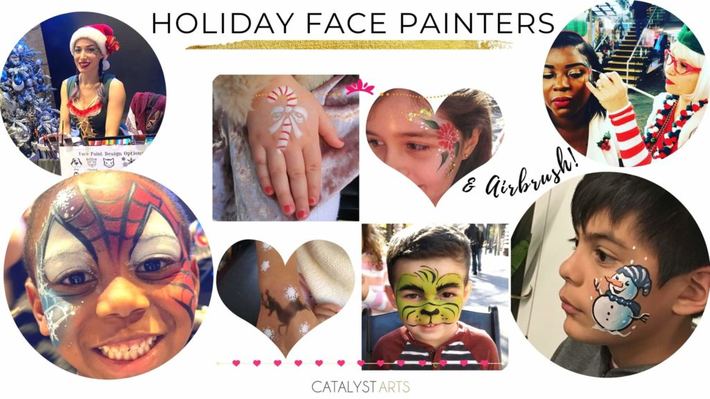 Holiday Party Face Painters from Catalyst Arts Entertainment in Bay Area