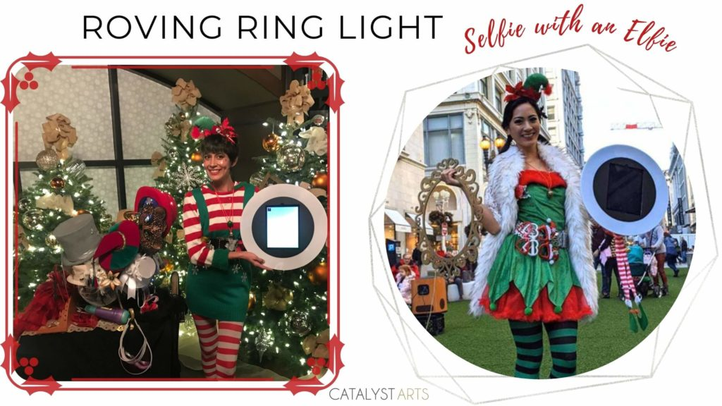 Roving Ring Light mobile photo booth + Selfie with an Elfie by Catalyst Arts