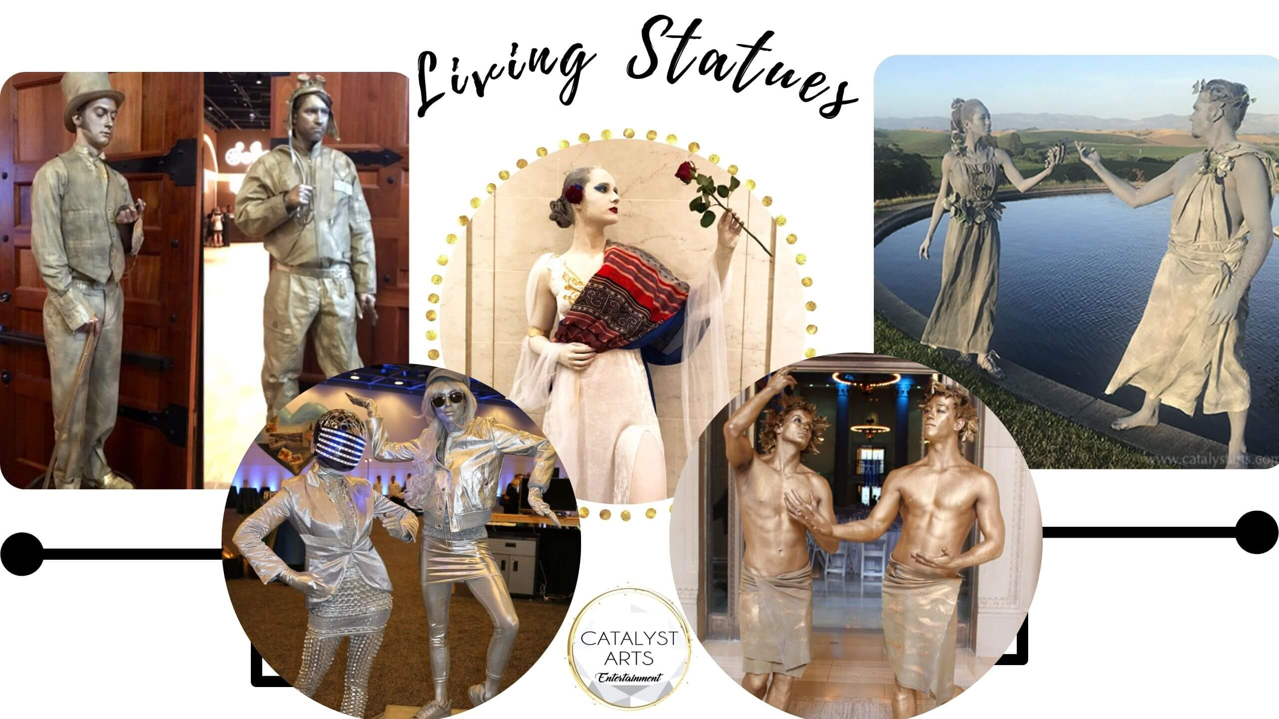 Living Statues by Catalyst Arts Entertainment in SF Bay California