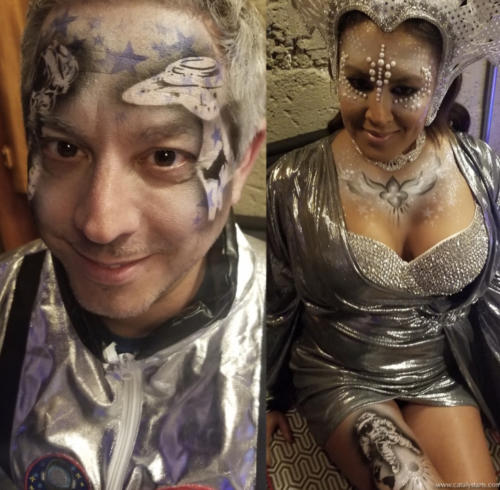 Futuristic Airbrush Artists for Space Circus Birthday Party in SF by Catalyst Arts
