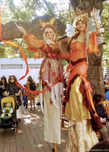 Autumn Fairy Stilt Walkers by Catalyst Arts