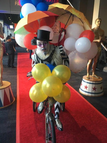 Strolling Circus Character bookable via Catalyst Arts Entertainment San Francisco