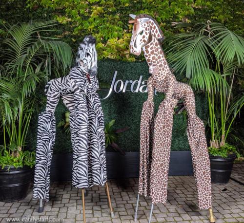 Giraffe & Zebra Stilt Walker Party Animals by Catalyst Arts Entertainment