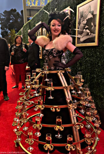 Hollywood Glam Champagne Skirt_in LA by Catalyst Arts