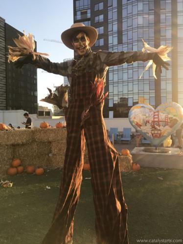 Scarecrow Stilt Walker- Catalyst Arts SF